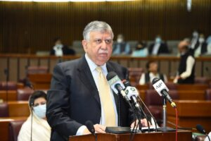 Pakistan FM addressing NA session in Islamabad